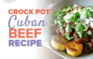 Foodie Friday - Cuban Beef, a picture of a bowl of cuban beef with a side of plantanes