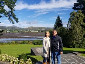From Cardio to Cardiac Arrest and Back, couple in with a gorgeous green Ireland background