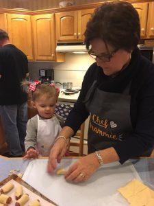 Testimonial - Kelly Morenus, Kelly cooking with her granddaughter
