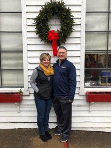 Testimony Tuesday with Sandy Morgan, Sandy posing with her husband at Christmas
