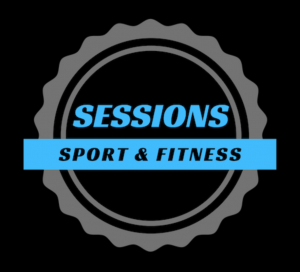 Focus on the Family FiTness, black blue and grey Sessions Logo