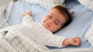 3-2-1-Go to Sleep! Here's Why... (Part 2), baby sleeping while smiling