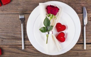 MissionFiT's Valentine's Event, valentine's day plate with roses