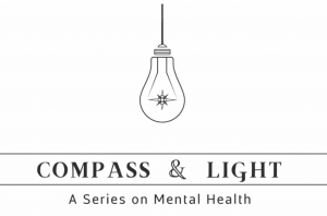 Compass & Light: A Series on Mental Health, light bulb hanging over title of series