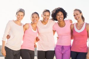 5 Women Smiling for the Five Week Women's Health Series