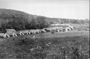 Civilian Conservation Corps Campsite in the Shenandoah Valley 1933. Join Challenge The National Parks! Week 2-1935