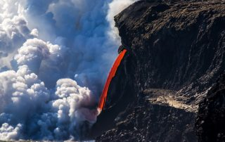 Kamokuna Lava Flow at Ocean, just one site at the finish line of MissionFiT's Challenge the National Parks