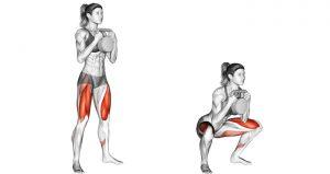 Female demonstrating Goblet Squat Exercise